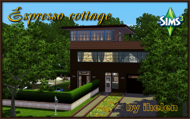 Sims 3 Residential lot Espresso cottage by ihelen at ihelensims.org.ru