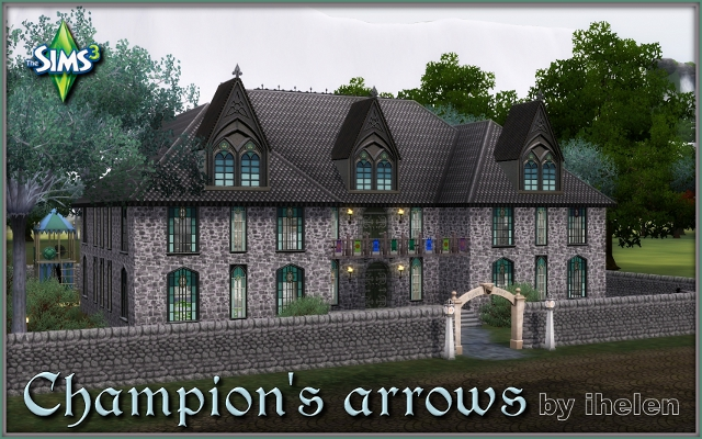 Sims 3 Community lot Champion's arrows by ihelen at ihelensims.org.ru