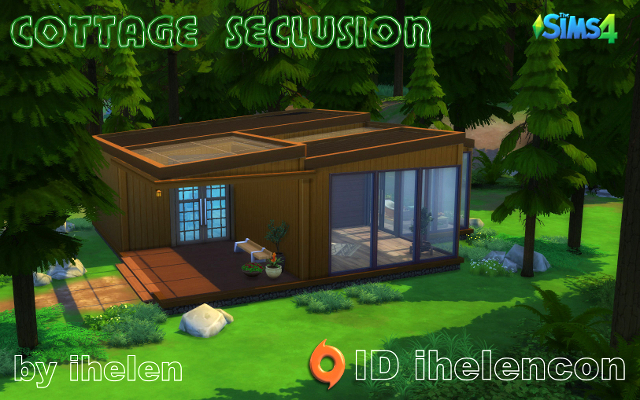 Sims 4 Residential lot Cottage Seclusion by ihelen at ihelensims.org.ru