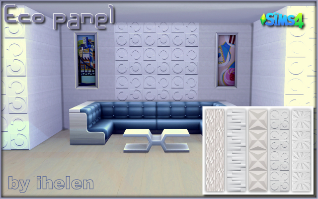 Sims 4 Build/Walls/Floors Eco panel by ihelen at ihelensims.org.ru