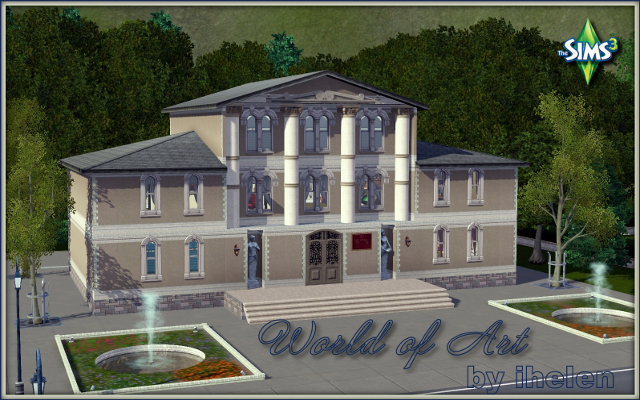 Sims 3 Community lot World of Art by ihelen at ihelensims.org.ru