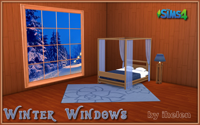 Sims 4 Decor Winter Windows by ihelen at ihelensims.org.ru