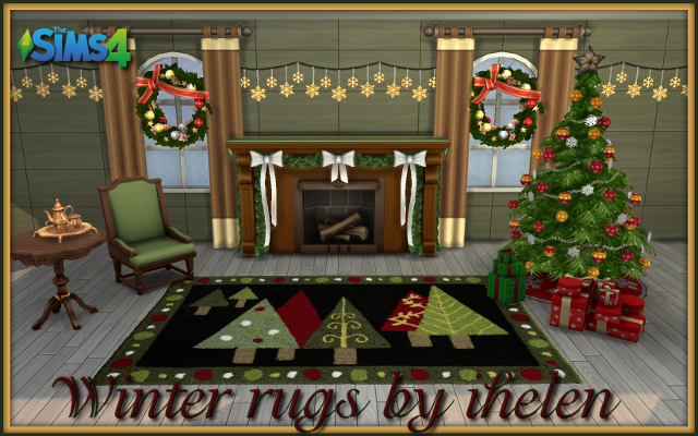 Sims 4 Decor Winter rugs by ihelen at ihelensims.org.ru
