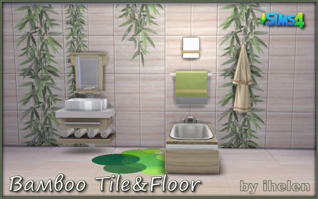 Sims 4 Build/Walls/Floors Bamboo Tile&Floor by ihelen at ihelensims.org.ru