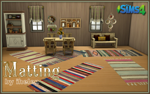 Sims 4 Decor Matting by ihelen at ihelensims.org.ru