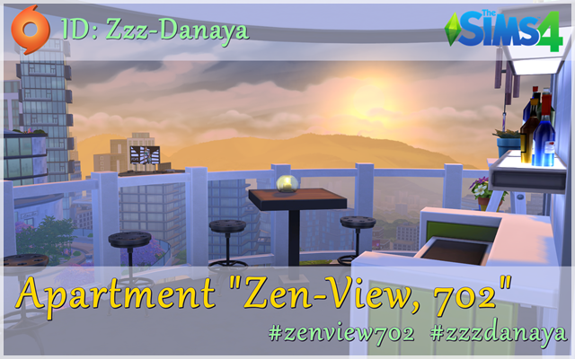 Sims 4 Residential lot Apartment Zen-View, 702 by Zzz-Danaya at ihelensims.org.ru