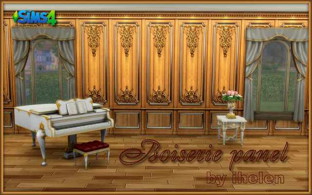 Sims 4 Build/Walls/Floors Boiserie Panel by ihelen at ihelensims.org.ru