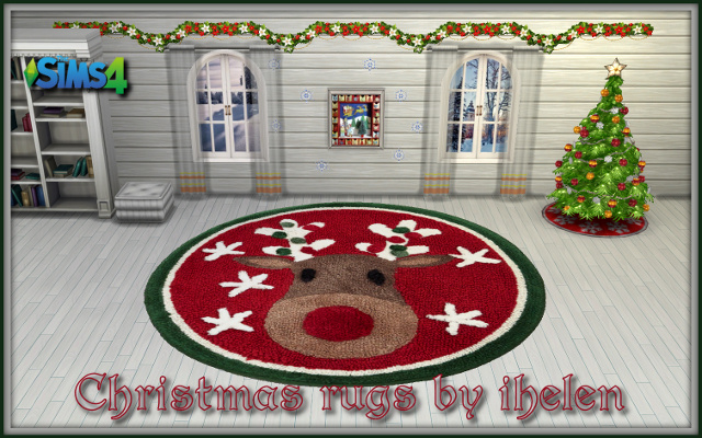 Sims 4 Decor Christmas rugs by ihelen at ihelensims.org.ru