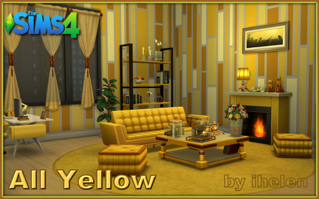 Sims 4 Residential lot All Yellow by ihelen at ihelensims.org.ru