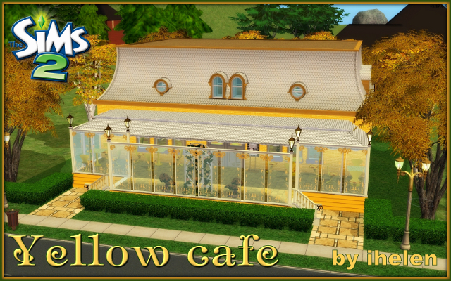 Sims 2 Community lot Yellow cafe by ihelen at ihelensims.org.ru