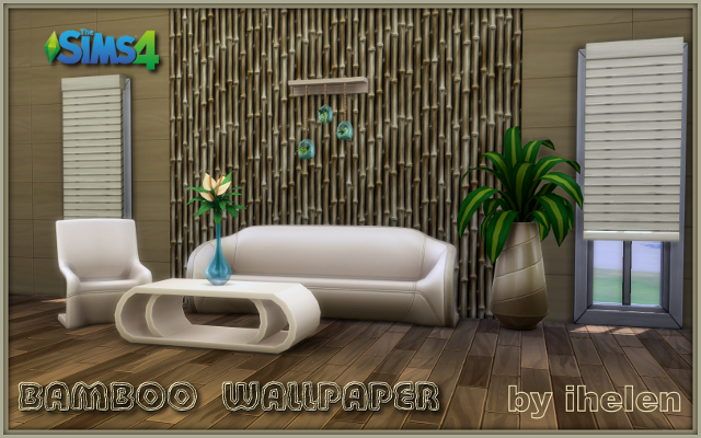Sims 4 Build/Walls/Floors Bamboo wallpaper by ihelen at ihelensims.org.ru