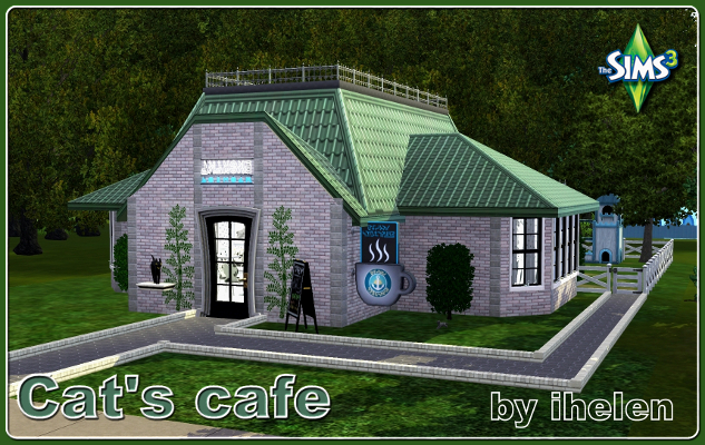 Sims 3 Community lot Cat's cafe by ihelen at ihelensims.org.ru