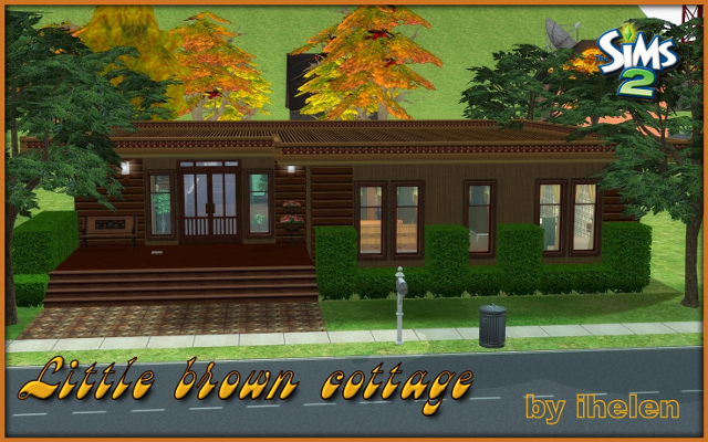 Sims 2 Residential lot Little brown cottage by ihelen at ihelensims.org.ru