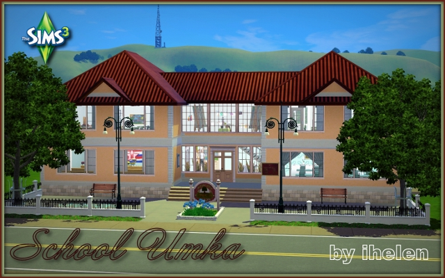 Sims 3 Community lot School Umka by ihelen at ihelensims.org.ru