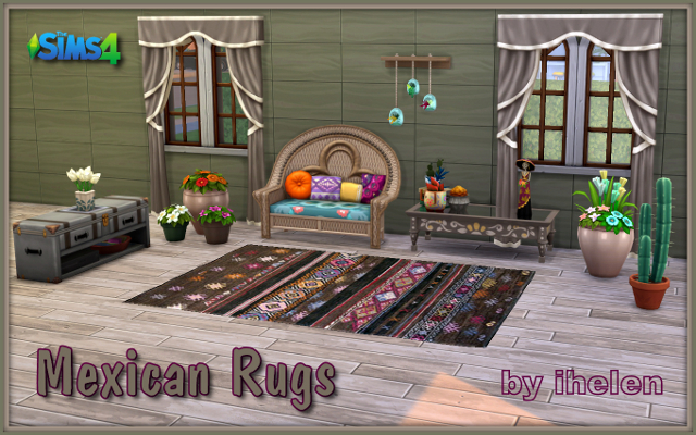 Sims 4 Decor Mexican Rugs by ihelen at ihelensims.org.ru