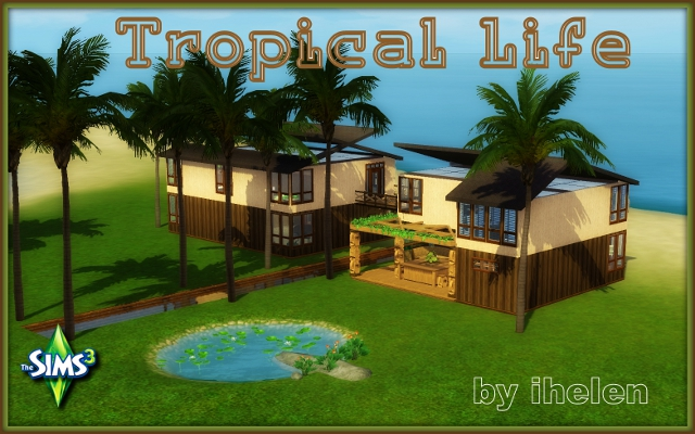 Sims 3 Residential lot Tropical Life by ihelen at ihelensims.org.ru