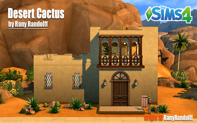 Sims 4 Residential lot Desert Cactus by Rany Randolff at ihelensims.org.ru