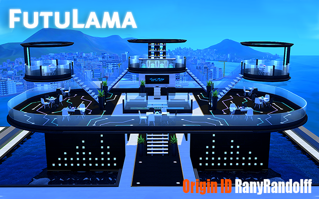 "Sims 4 Community lot Ресторан ""FutuLama"" by Rany Randolff at ihelensims.org.ru"
