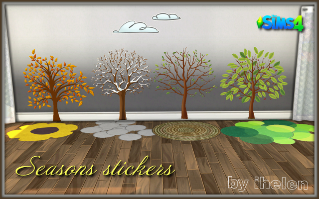 Sims 4 Decor Seasons stickers by ihelen at ihelensims.org.ru