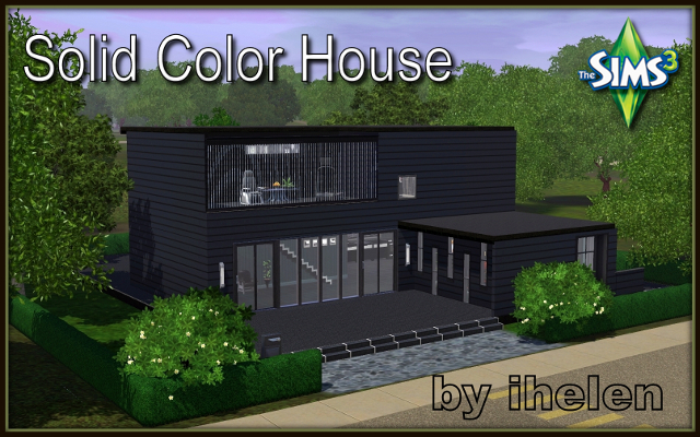 Sims 3 Residential lot Solid Color House by ihelen at ihelensims.org.ru