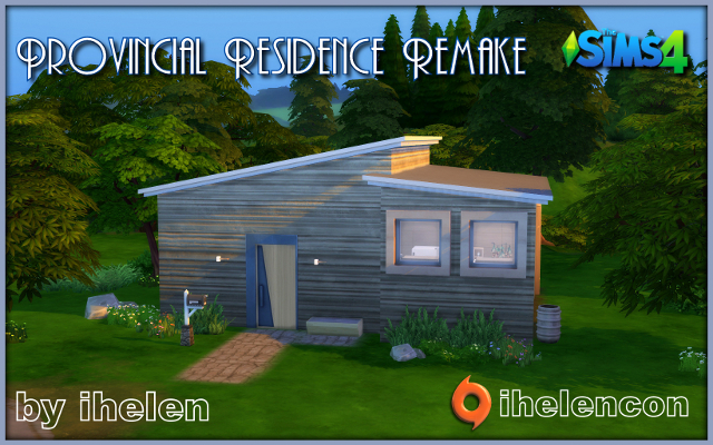 Sims 3 Residential lot Provincial Residence Remake by ihelen at ihelensims.org.ru