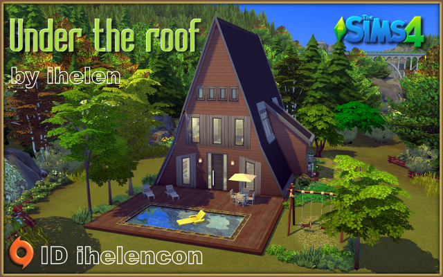 Sims 4 Residential lot Under the roof by ihelen at ihelensims.org.ru