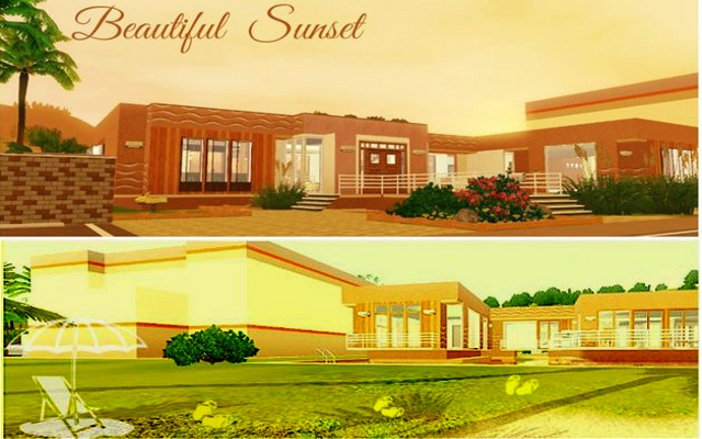 Residential lot Beautiful Sunset by Alalilla at ihelensims.org.ru