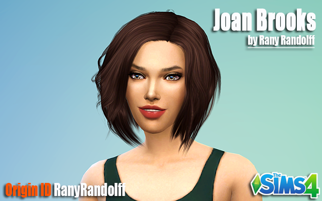 Sims model Joan Brooks by Rany Randolff at ihelensims.org.ru