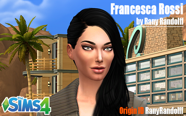 Sims model Francesca Rossi by Rany Randolff at ihelensims.org.ru