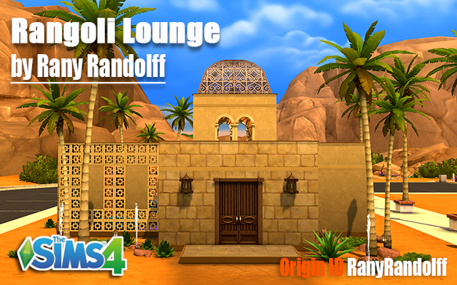 Community lot Rangoli Lounge by Rany Raydolff at ihelensims.org.ru
