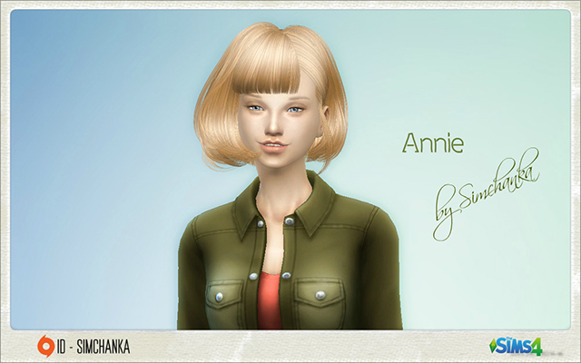 Sims model Annie by Simchanka at ihelensims.org.ru