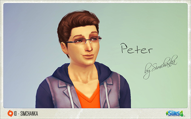 Sims model Peter by Simchanka at ihelensims.org.ru