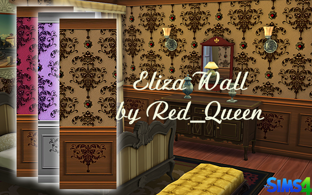 Walls/Floors Eliza Wall by Red_Queen at ihelensims.org.ru
