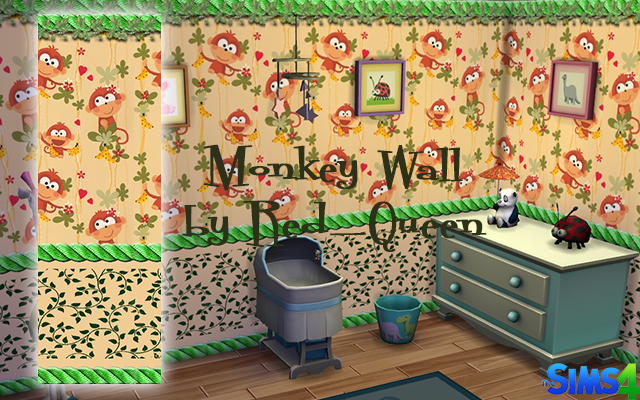 Walls/Floors Monkey Wall by Red_Queen at ihelensims.org.ru