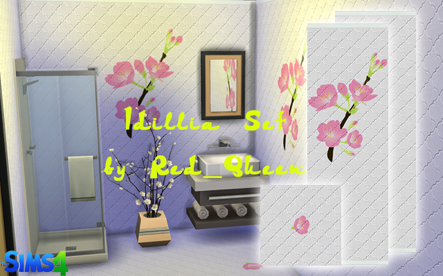 Walls/Floors Idillia Set by Red_Queen at ihelensims.org.ru