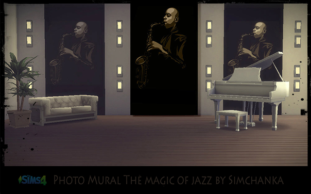 Walls/Floors Photo Mural The magic of jazz by Simchanka at ihelensims.org.ru