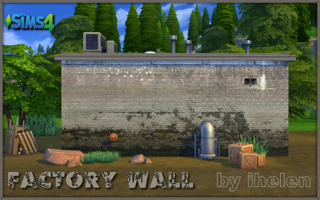 Build/Walls/Floors Mural Factory wall by ihelen at ihelensims.org.ru