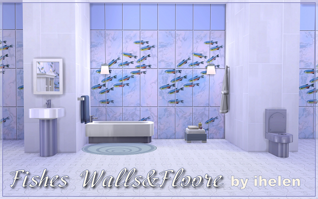 Build/Walls/Floors Fishes Walls&Floor by ihelen at ihelensims.org.ru