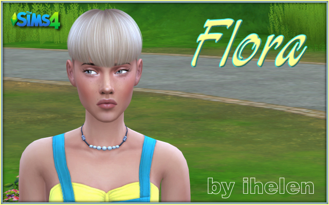 Sims model Flora by ihelen at ihelensims.org.ru
