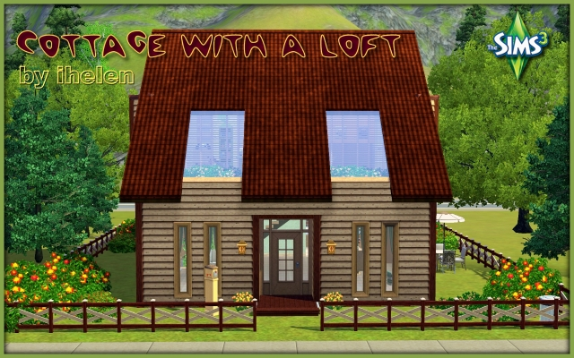 Residential lot Cottage with a loft by ihelen at ihelensims.org.ru